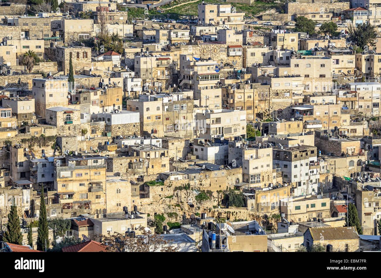 Jerusalem, Israel hillside homes near the old city. - Stock Image