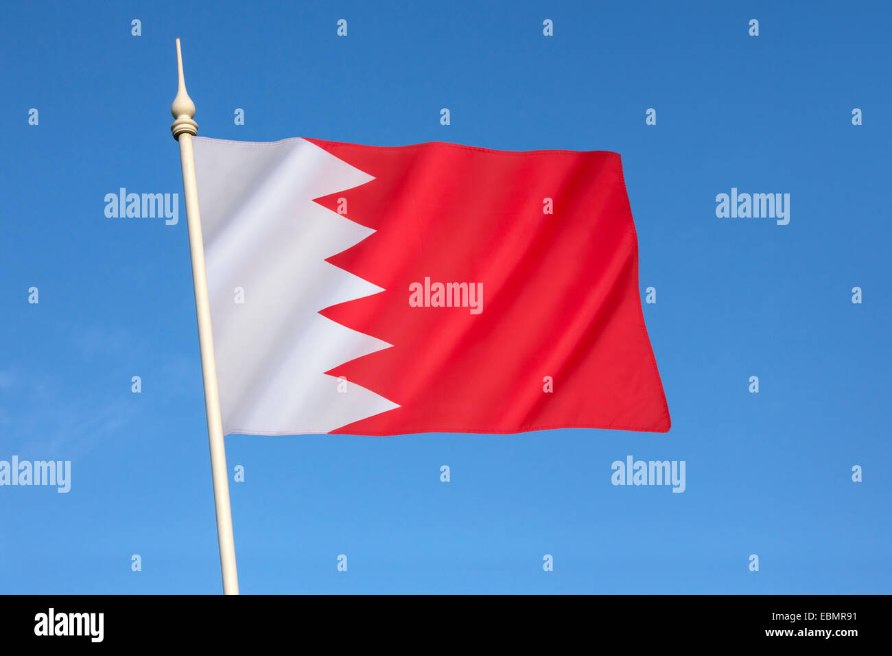 Flag of Bahrain - Stock Image