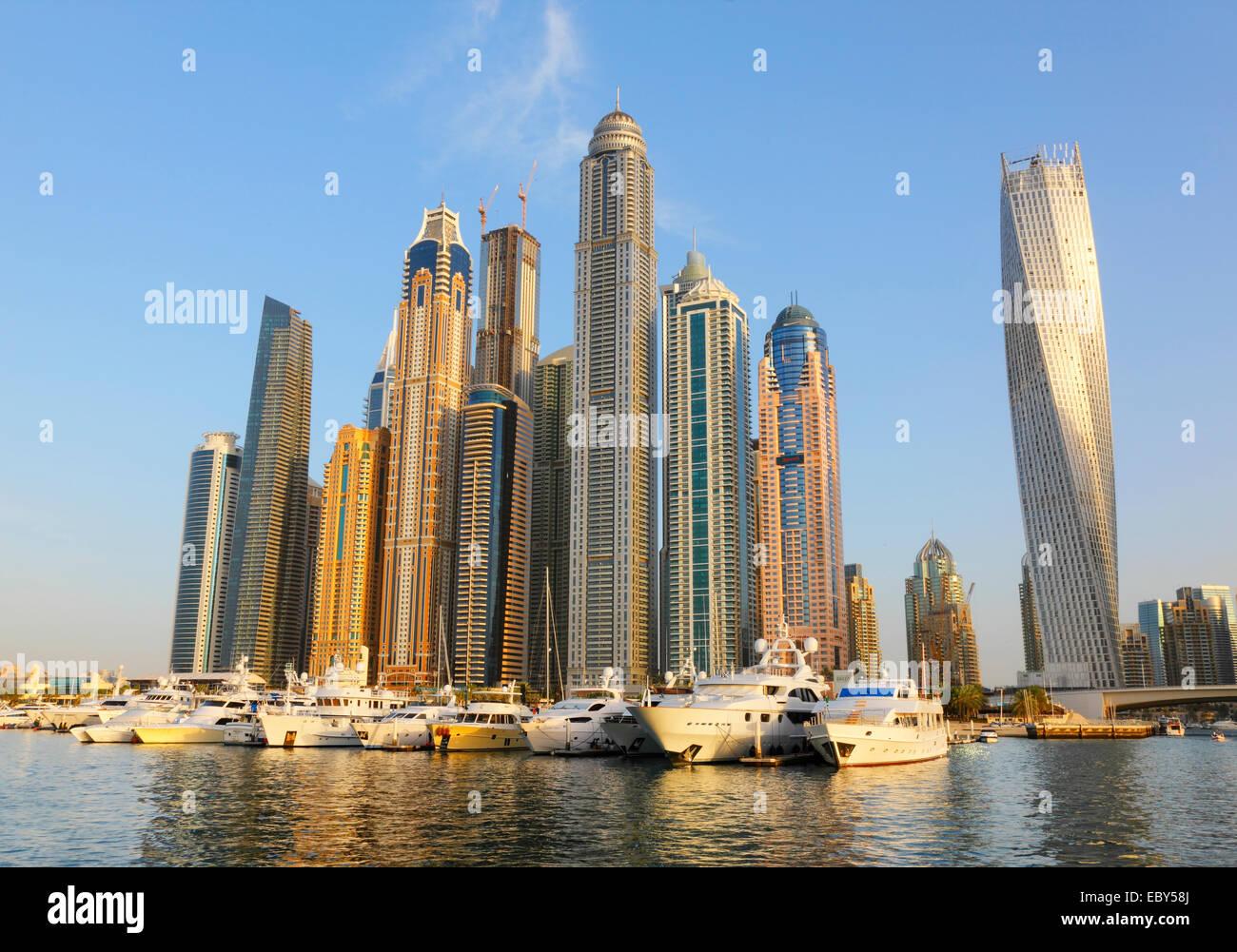 Dubai Marina waterfront - Stock Image