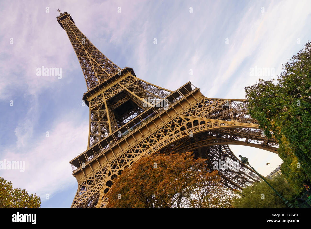 The Eiffel Tower in autumn. Paris, France. - Stock Image