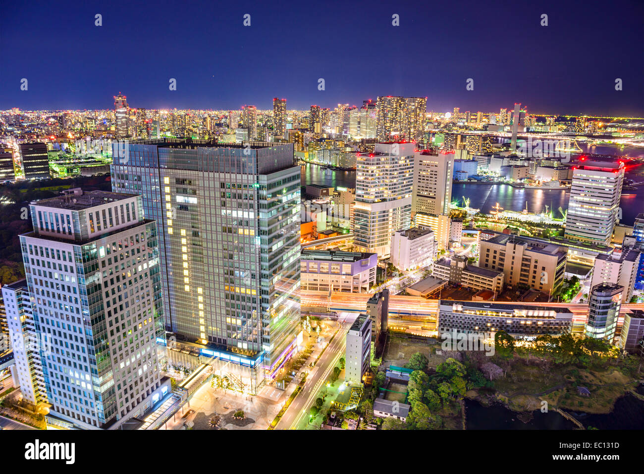 Tokyo, Japan cityscape at night. - Stock Image