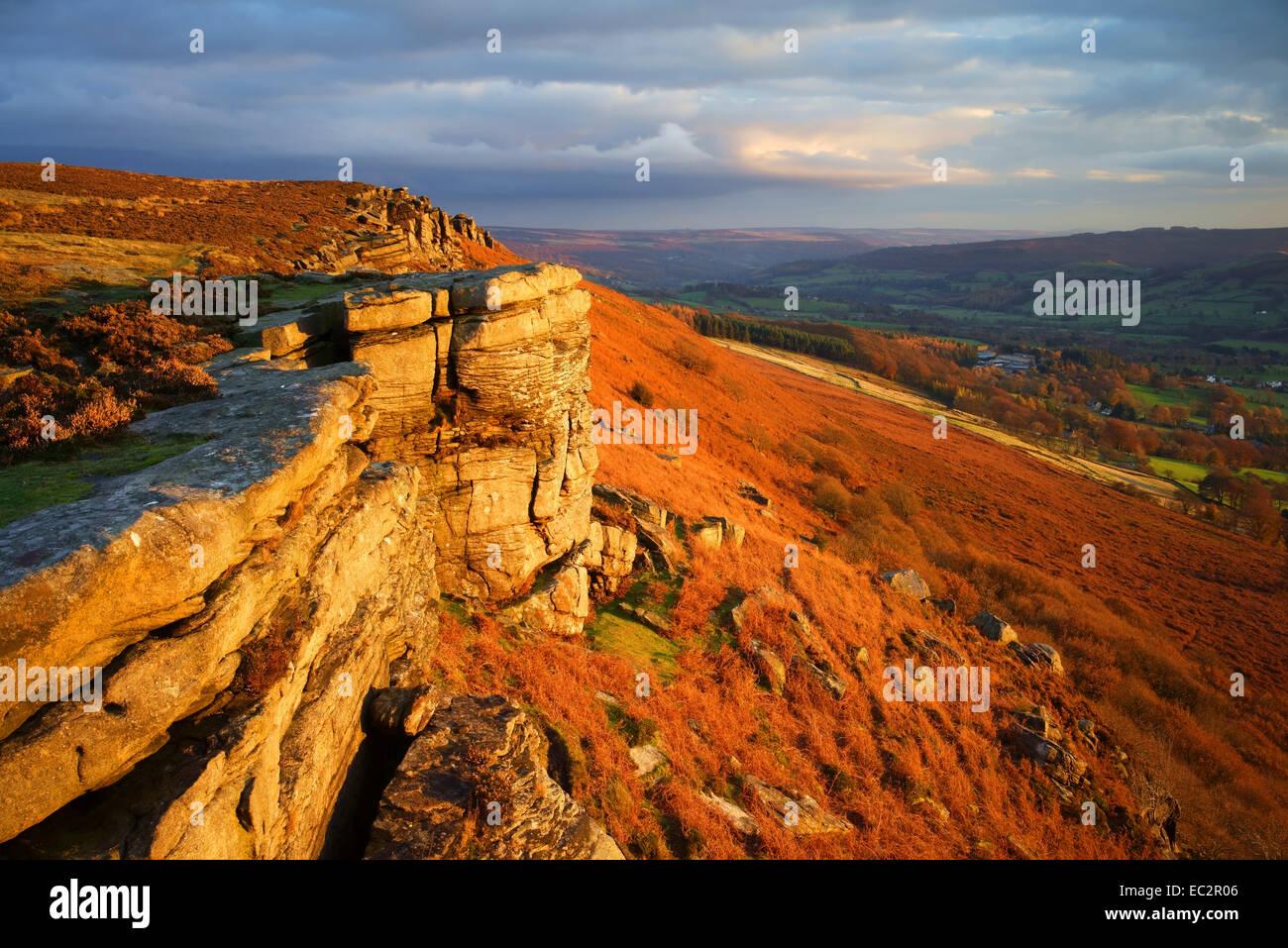 UK,Derbyshire,Peak District, Bamford Edge - Stock Image