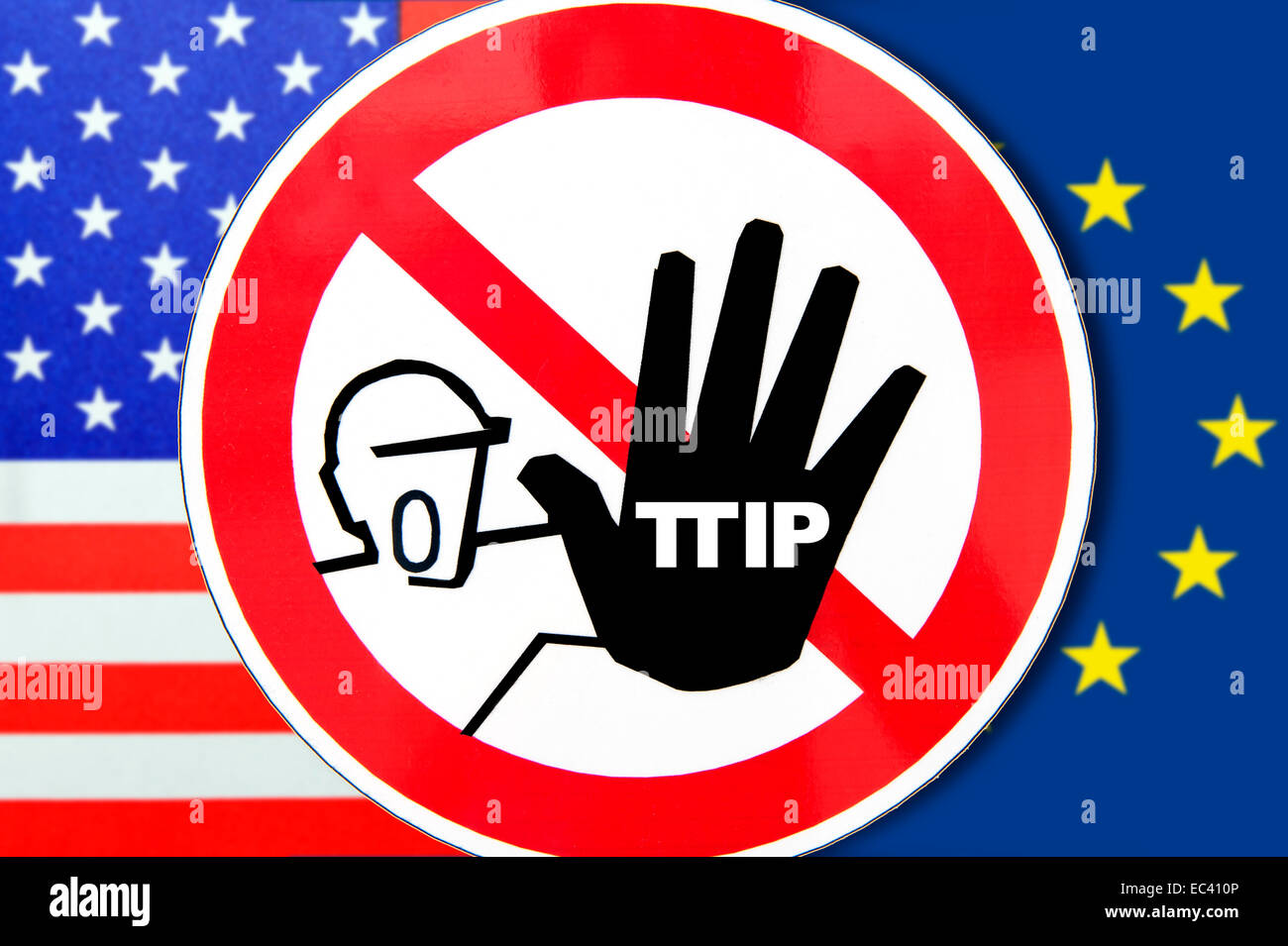 Free Trade Agreement Ttip Protest Sign Stock Photo 76305958 Alamy