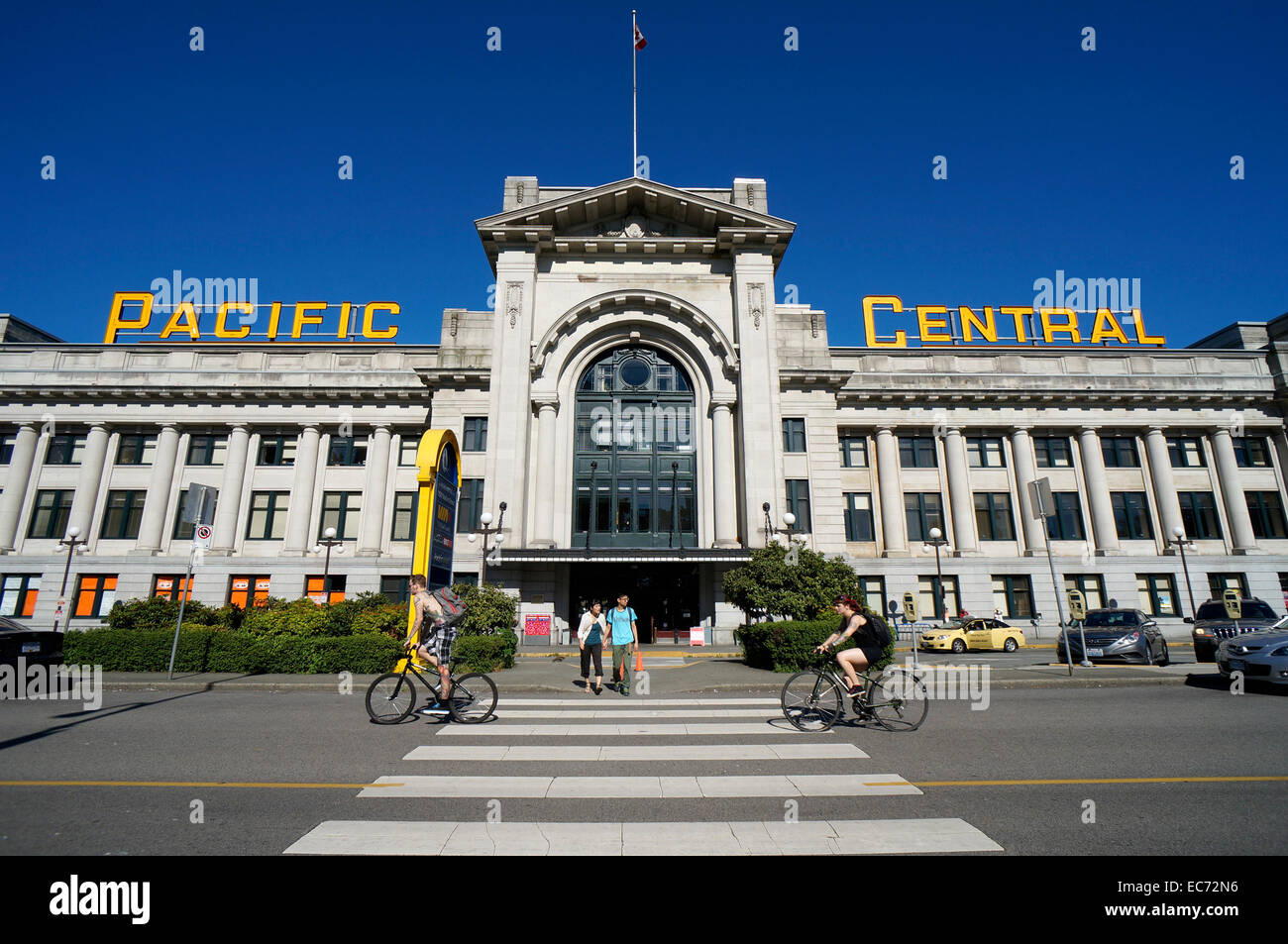 The Pacific Central Station In Vancouver Bc Canada Stock Photo