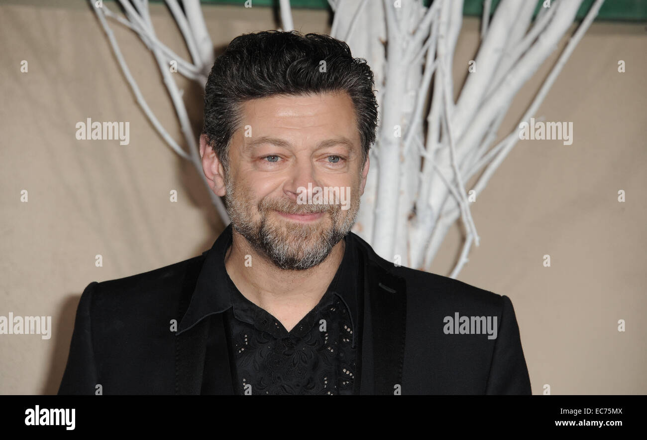 Los Angeles, California, USA. 9th Dec, 2014. Andy Serkis attending the Los Angeles Premiere of ''The Hobbit: - Stock Image