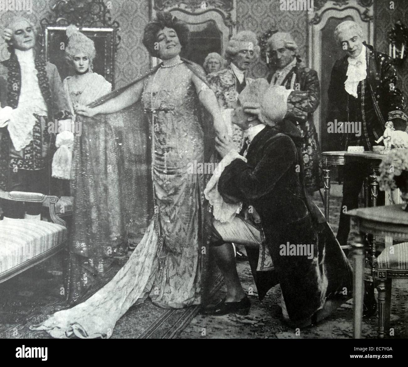 Mrs Leslie Carter in the play 'Du Barry' 1902. - Stock Image