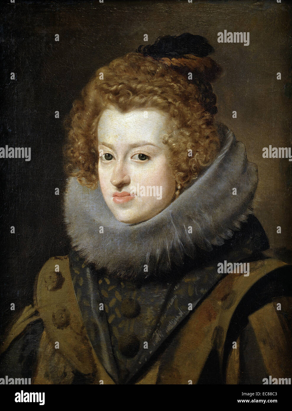 Portrait of Maria Anna of Spain - Stock Image