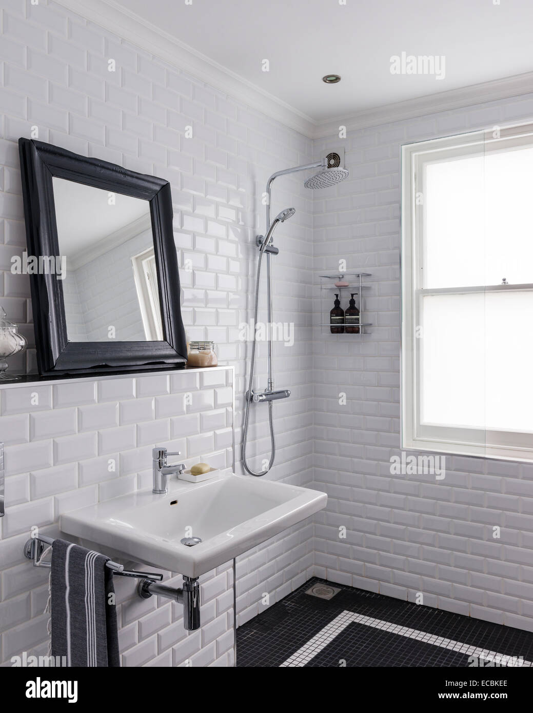 pinterest white bathrooms room with glossy white metro tiles and shower by 13987