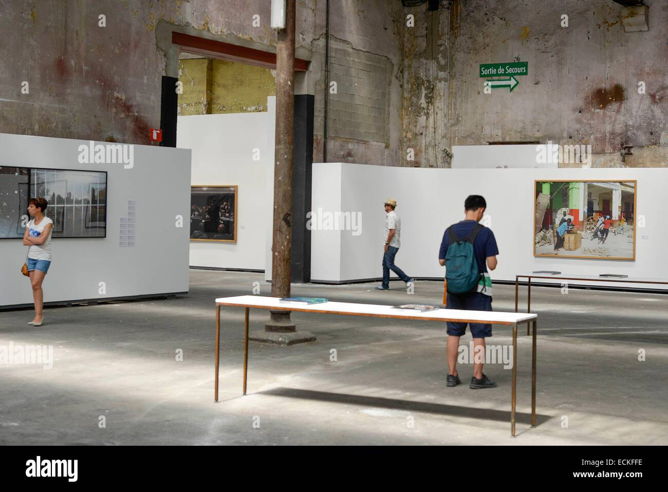 France, Bouches du Rhne, Arles, former workshops of the French National Railway Company, exhibition during the International - Stock Image
