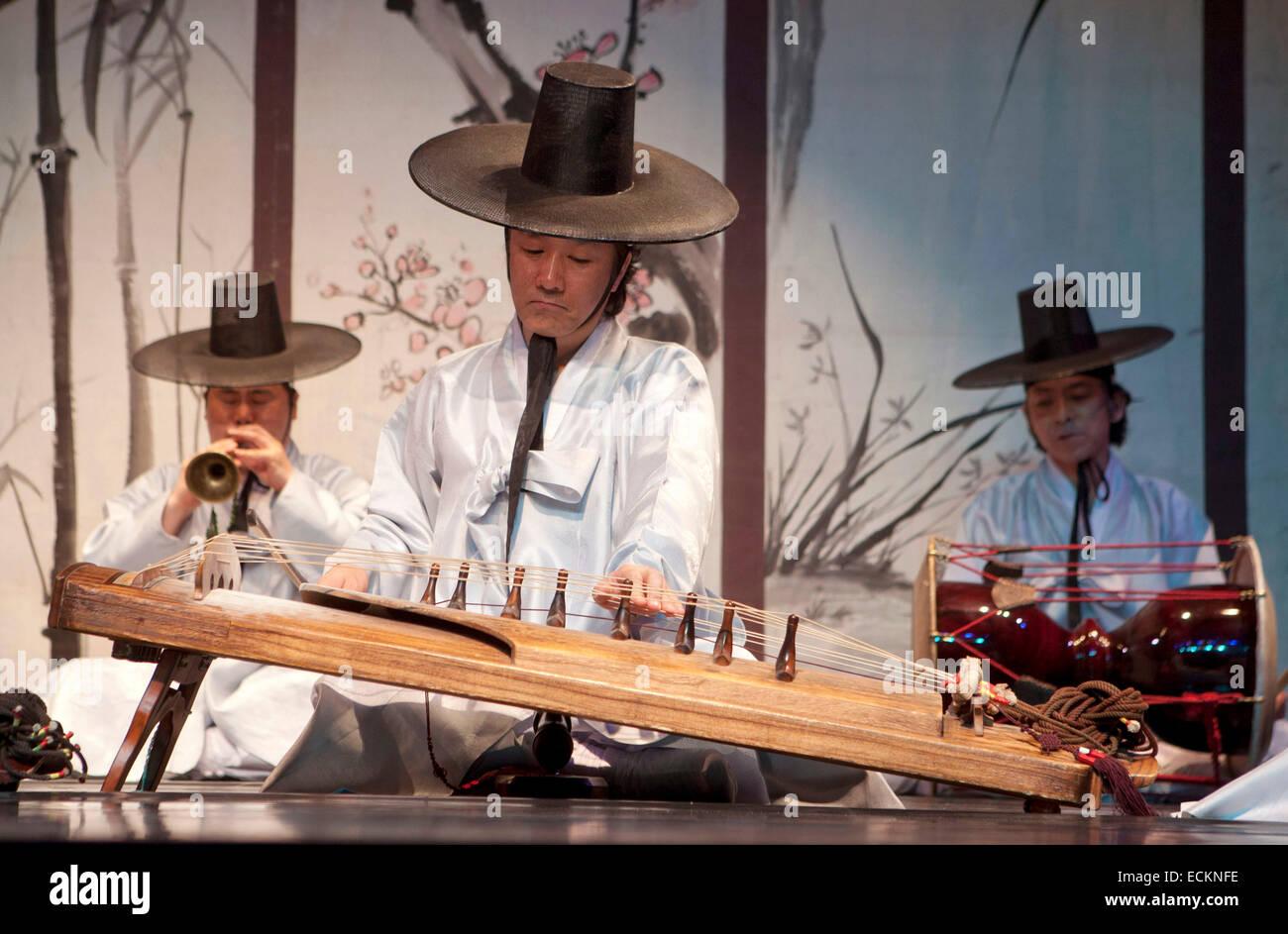 Seoul, traditional korean music - Stock Image