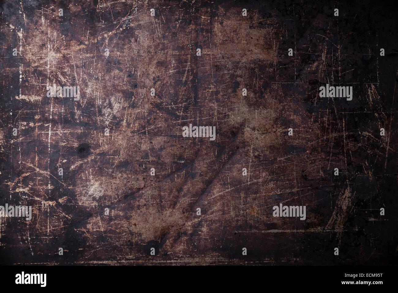 Old scratched black dark background texture - Stock Image