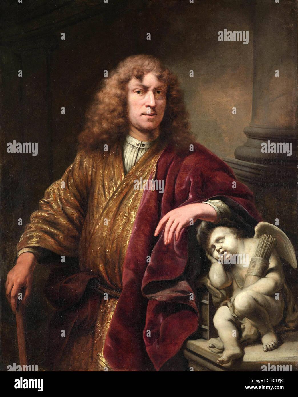 Ferdinand Bol, Self-portrait of the artist - Stock Image