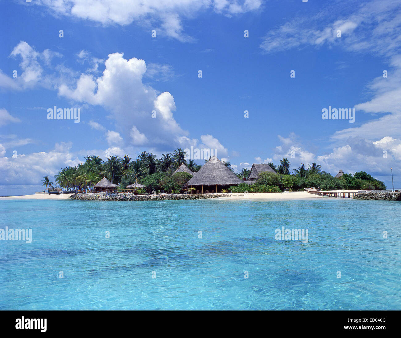 Angsana Ihuru Resort, Angsana Ihuru, Kaafu Atoll, Republic of Maldives - Stock Image