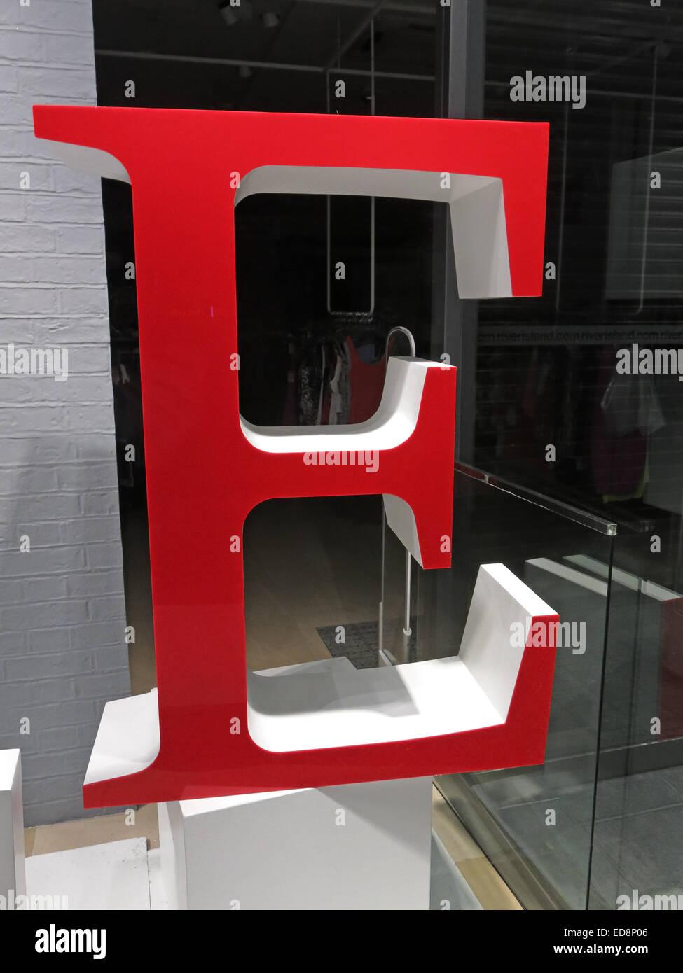 Character ASCII Edinburgh,Scotland,UK White giant letters glass window,GoTonySmith