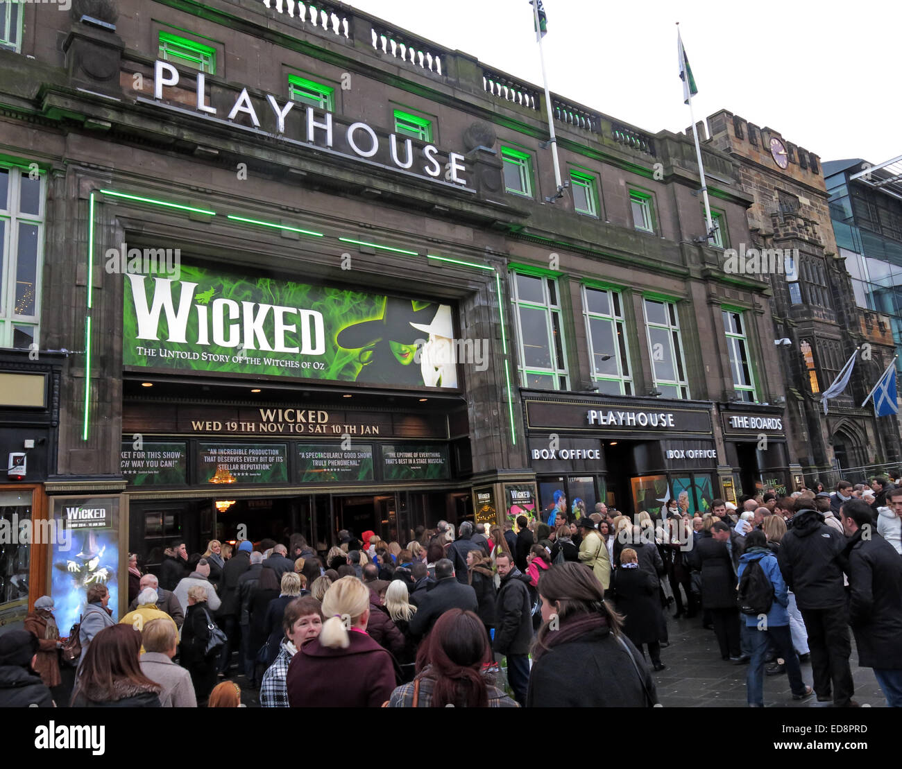 Arts,movement,entertainment,building street,streets in Scotland,Scottish,winter,play,travel,traveller,tourism,tourist,the,production,of,Wicked,Scotland,UK,Actor,Actors,boards,comedy,venue,capital,city,Gotonysmith