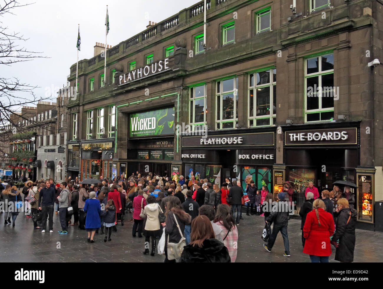 Arts,movement,entertainment,building street,streets in Scotland,Scottish,winter,play,travel,traveller,tourism,tourist,the,production,of,Wicked,Scotland,UK,Actor,Actors,boards,comedy,venue,capital,city,Gotonysmith,Buy Pictures of,Buy Images Of