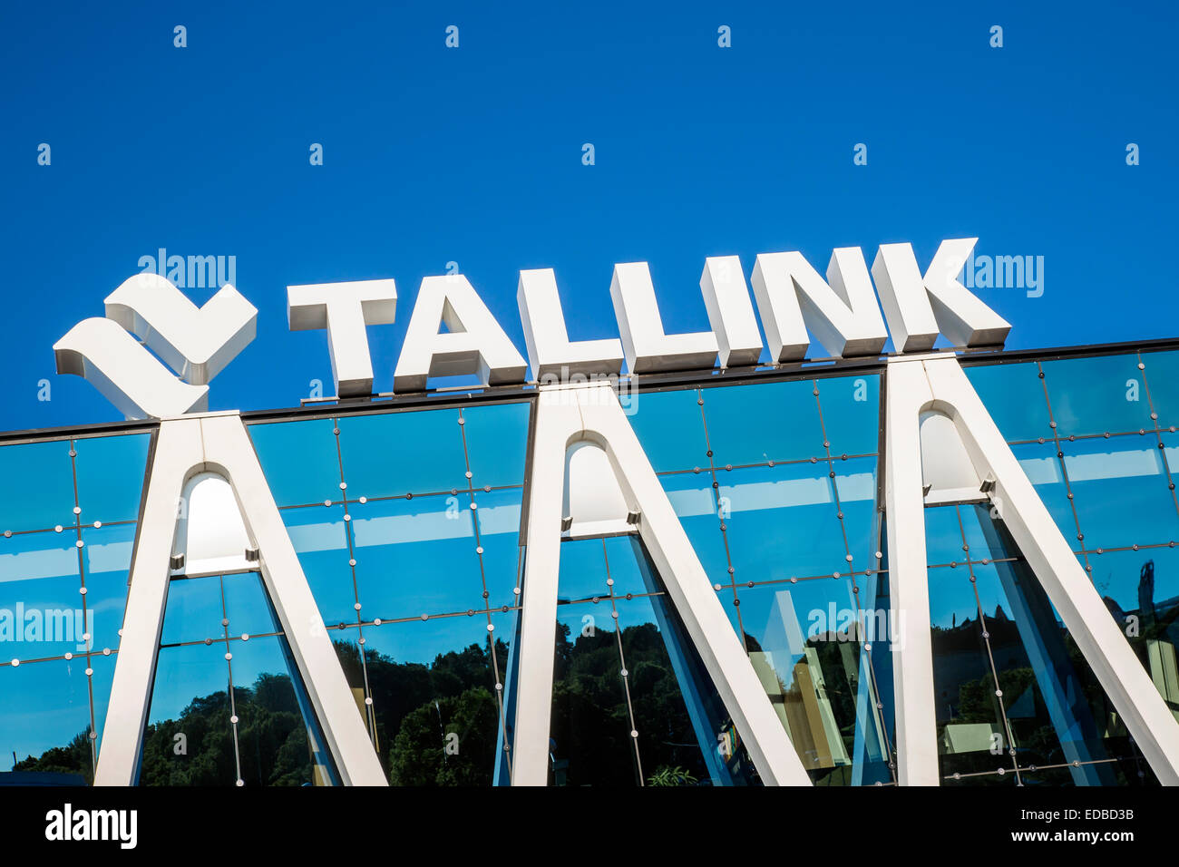 Headquarters of the Estonian shipping company Tallink, Tallinn, Estonia - Stock Image