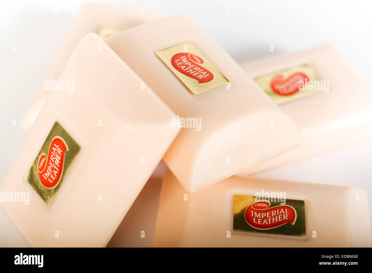Illustrative image of PZ Cussons Imperial Leather soap.Stock Photo