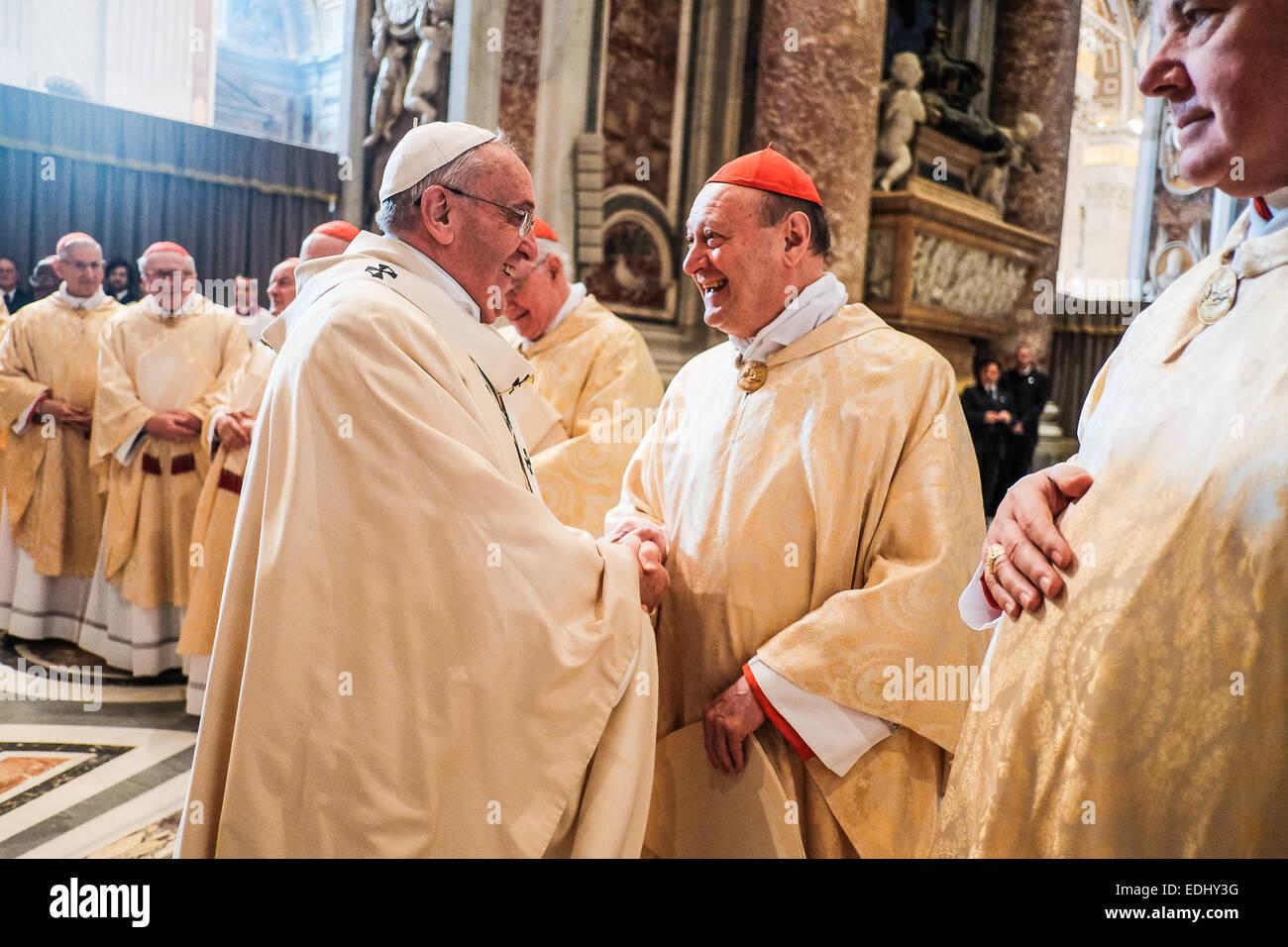 Holy Mass of the Epiphany - Pope Francis - Stock Image