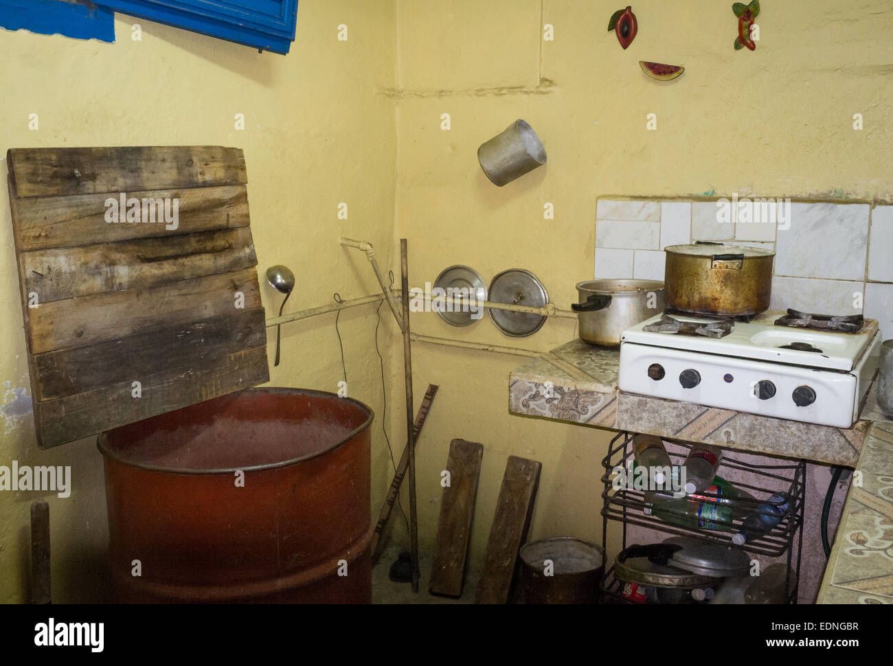 Cuba Street Archive. Typical Cuban Kitchen in Old Havana Stock Photo ...