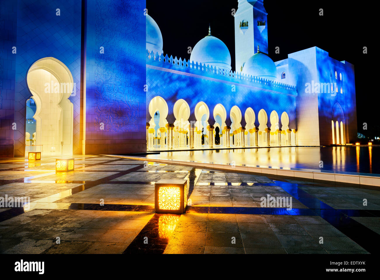 Abu Dhabi Sheikh Zayed White Mosque - Stock Image