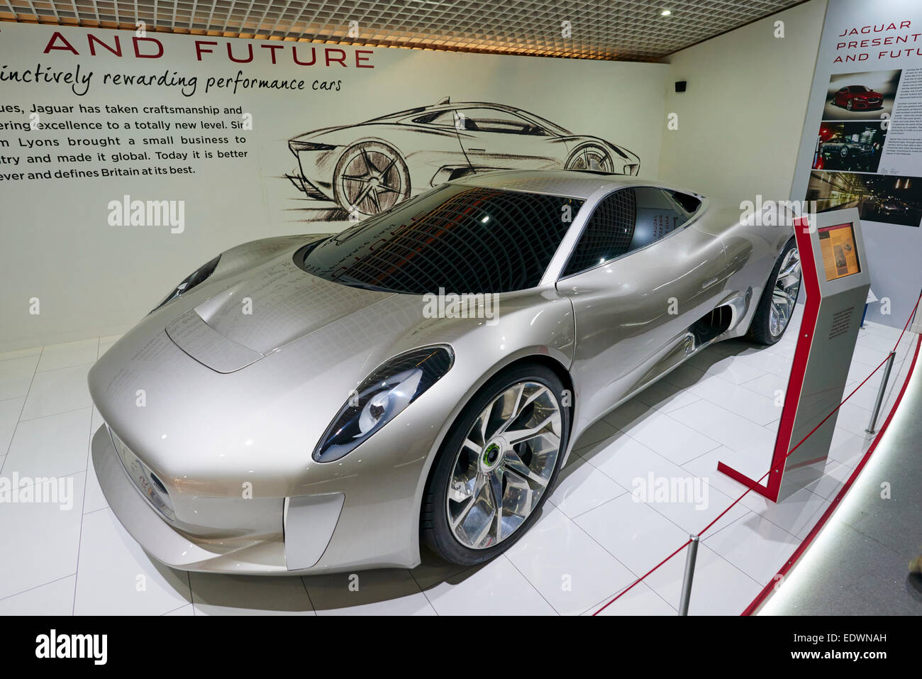 The Jaguar Concept Car C-X75 Display At The Coventry Transport ...