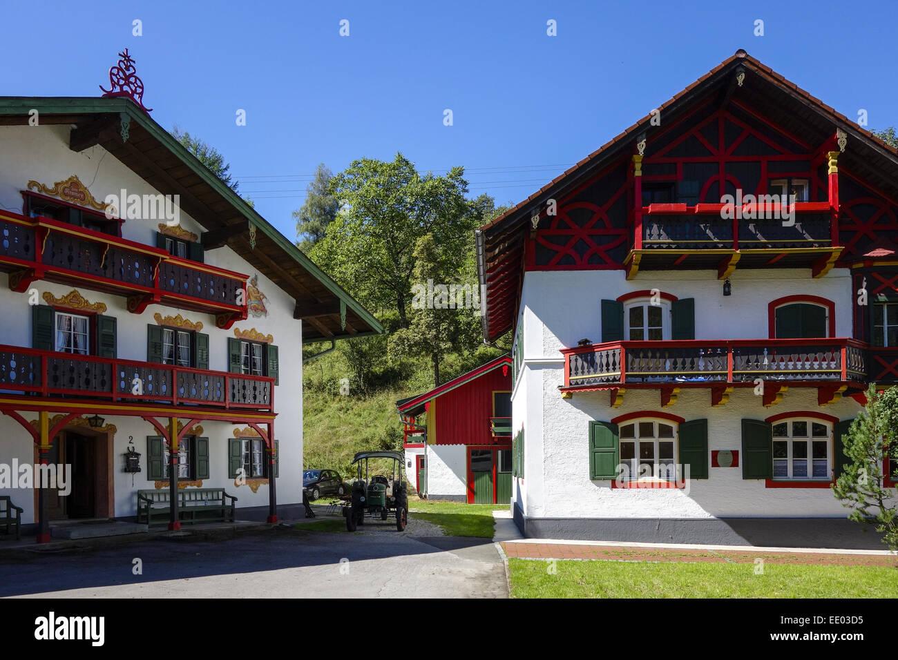 Bauernhaus Bayern kochel am see, kochelsee, bauernhaus, bayern, oberbayern stock photo