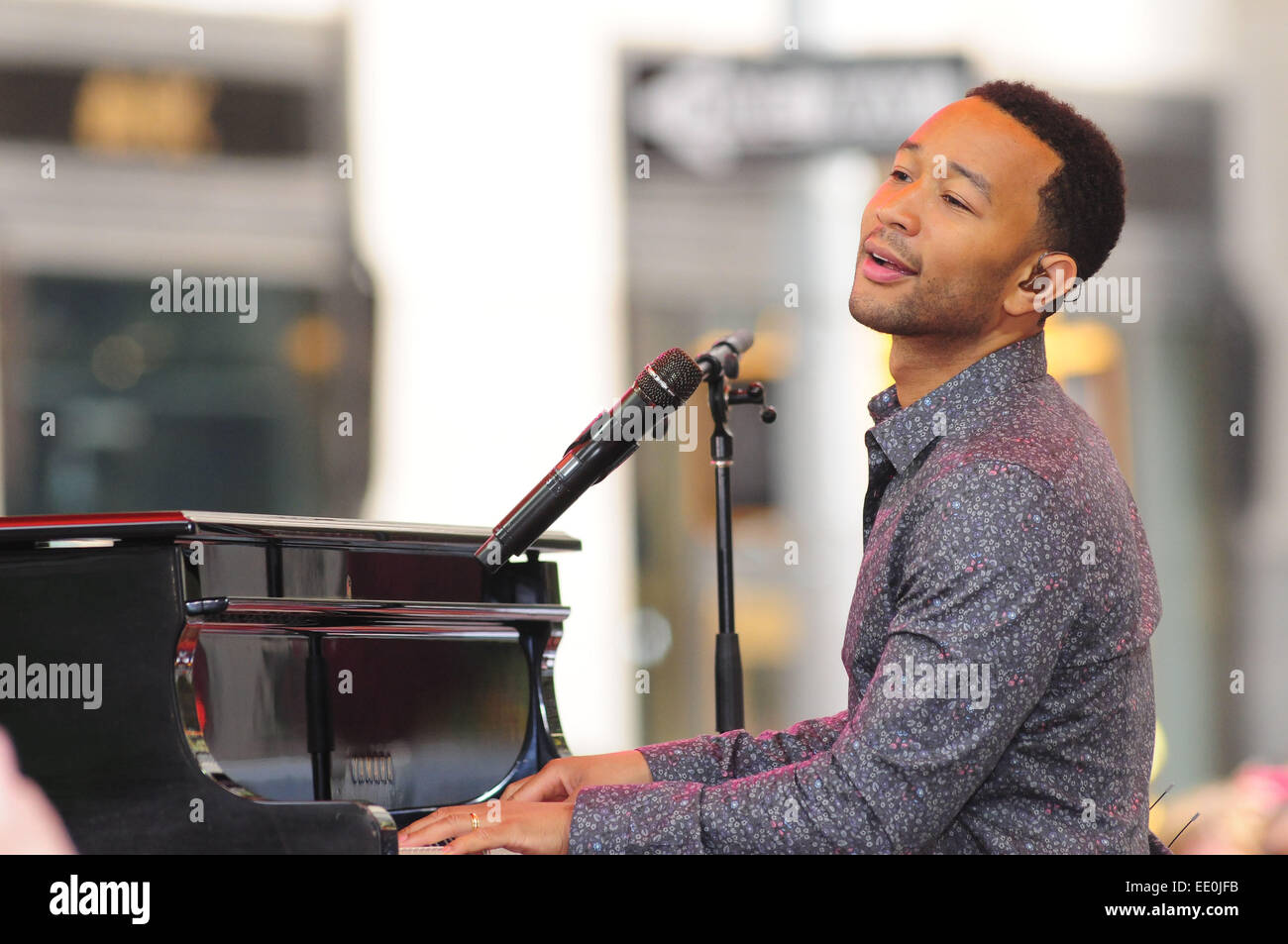 John Legend performing live on NBC's 'Today' show  Featuring: John Legend Where: New York City, New York, United Stock Photo