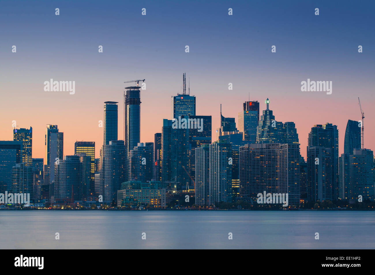View of city skyline, Toronto, Ontario, Canada, North America - Stock Image
