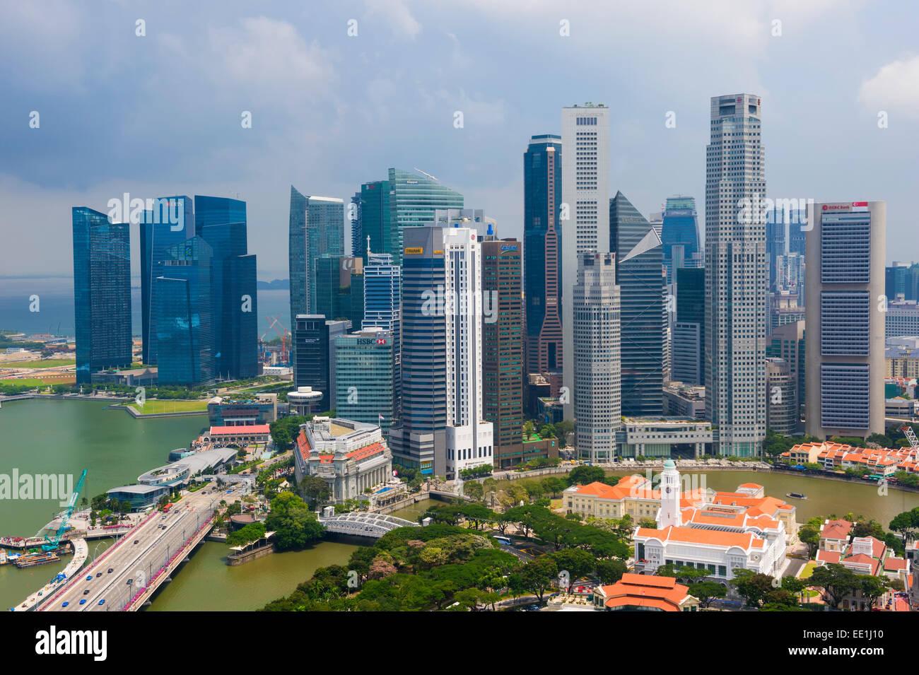 Downtown center financial district, Singapore, Southeast Asia, Asia - Stock Image