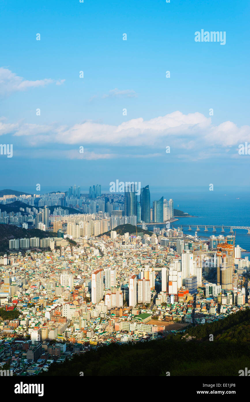 City skyline, Busan, South Korea, Asia - Stock Image