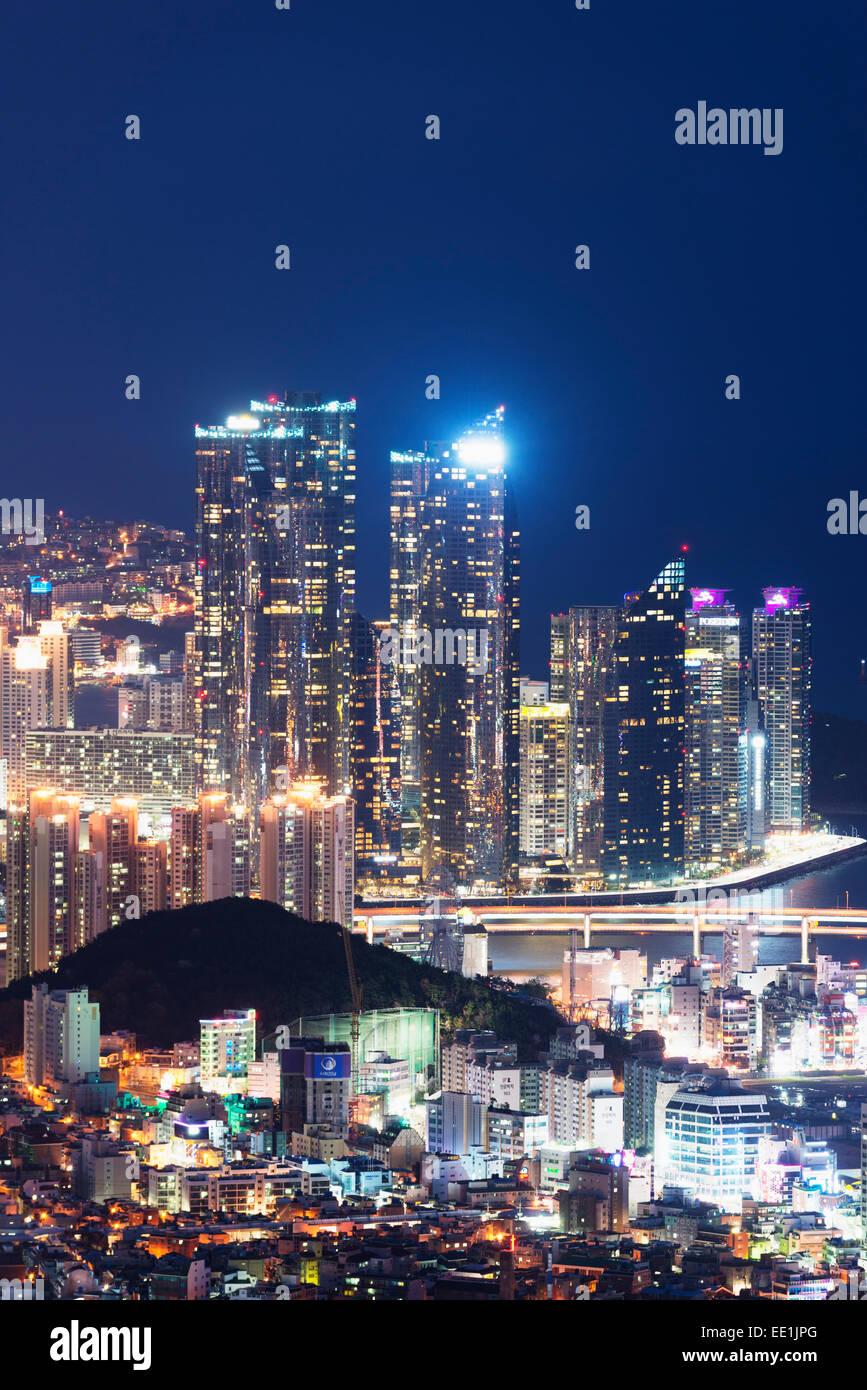 City skyline, Busan, South Korea, Asia - Stock Image