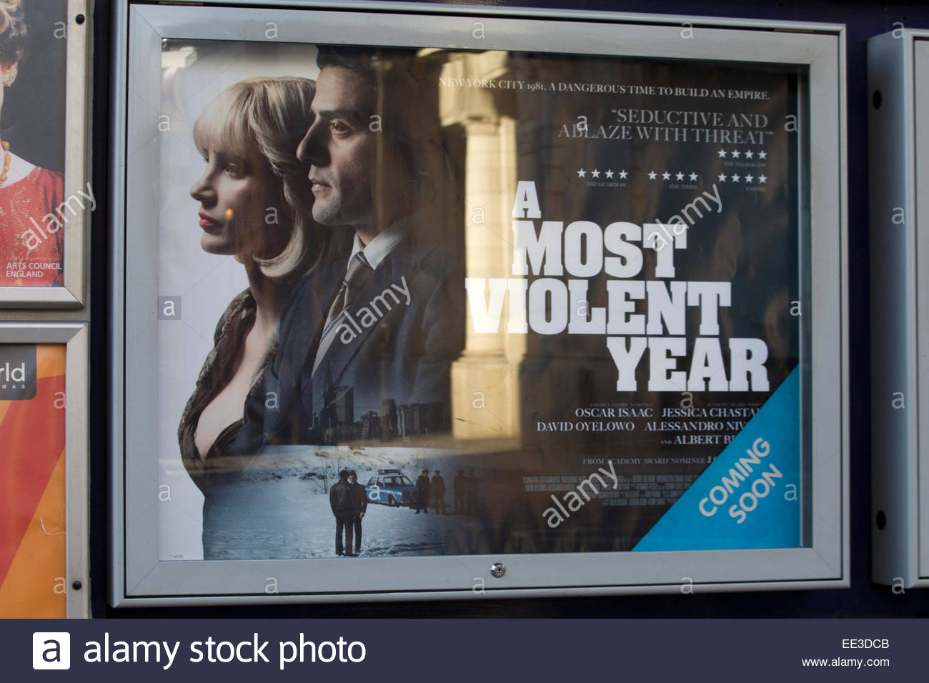 Movie poster advertising the film A Most Violent Year - Stock Image
