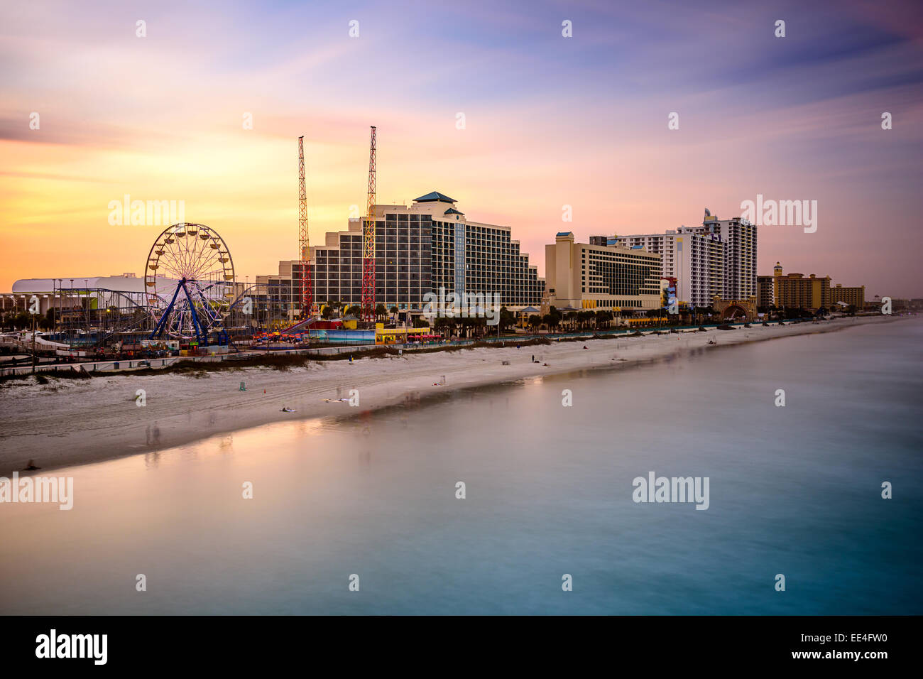 Daytona Beach, Florida, USA beach and resorts cityscape. Stock Photo