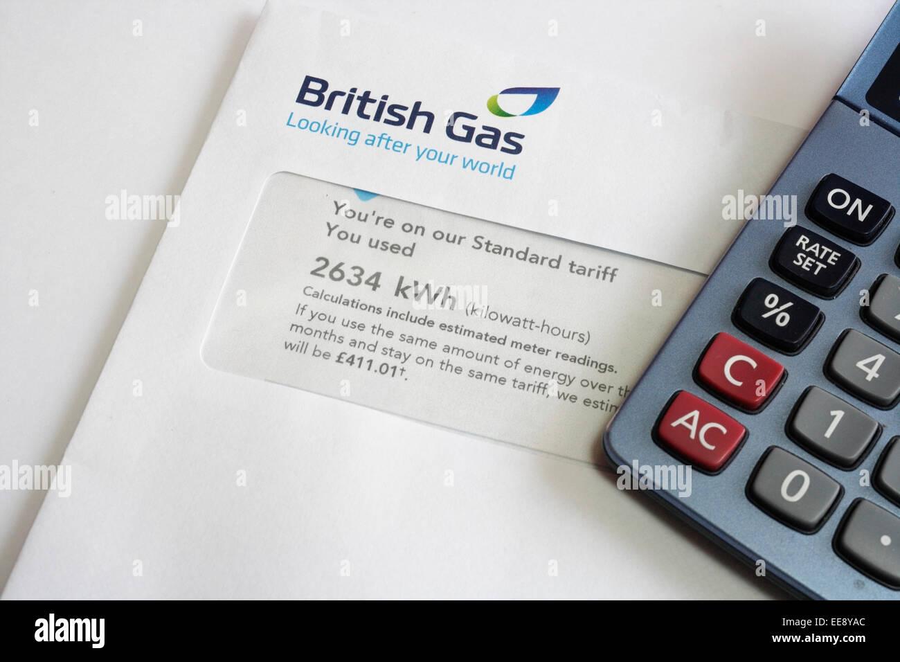 British Gas bill in envelope Stock Photo