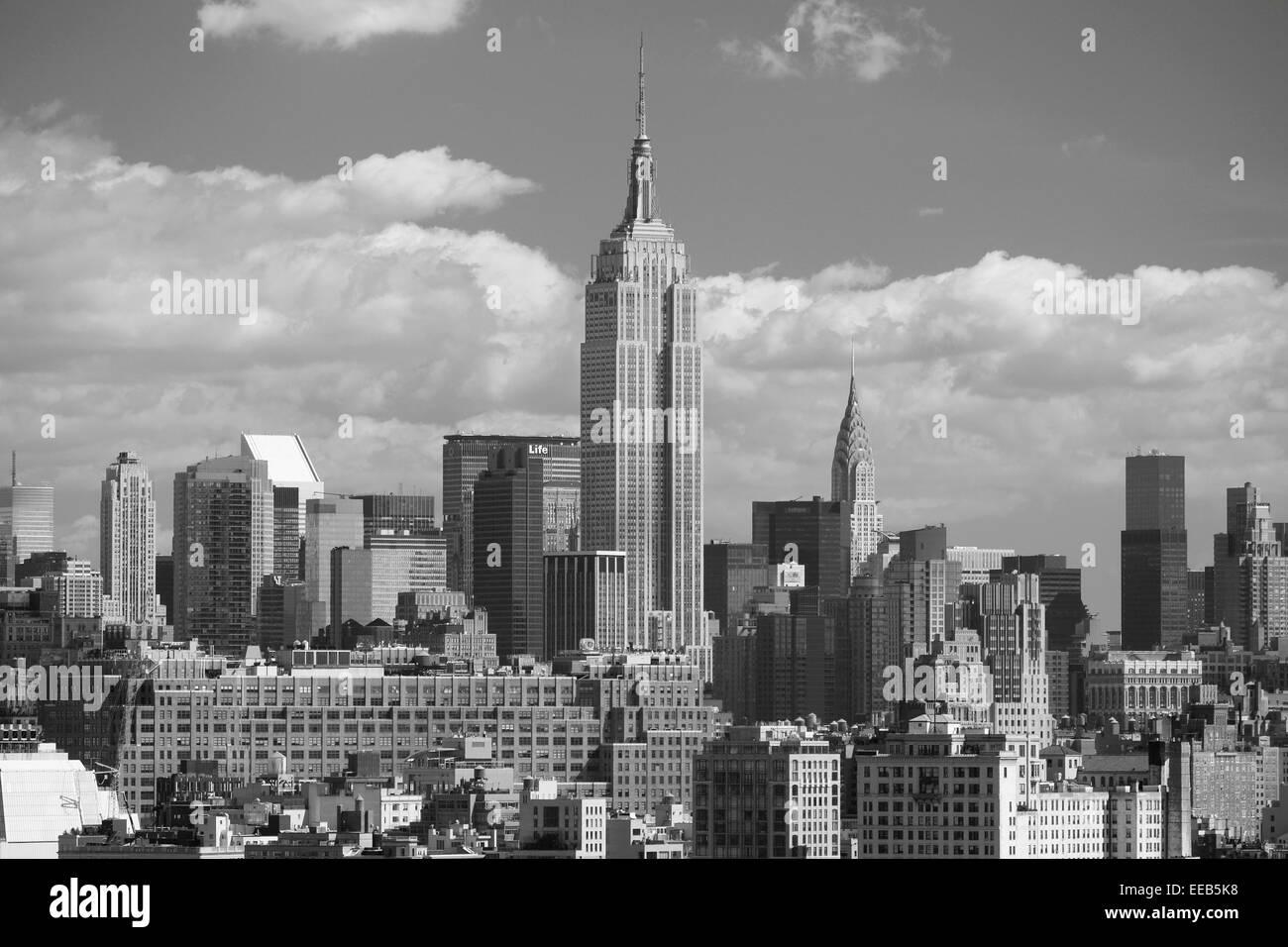 Empire state building, Midtown, New York, USA - Stock Image