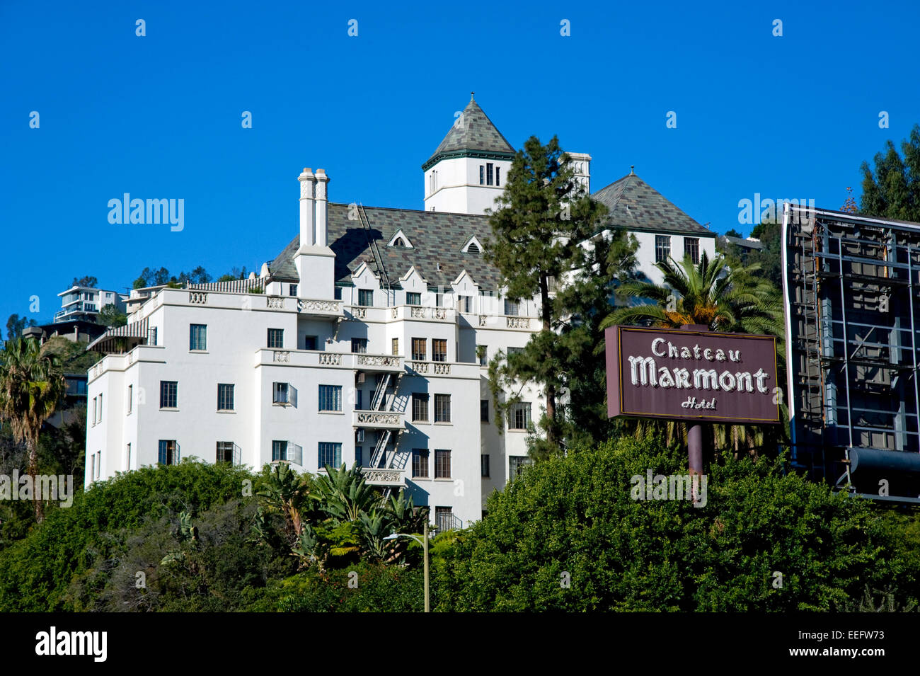 Chateau Marmont hotel on the Sunset Strip in Los Angeles, CaliforniaStock Photo