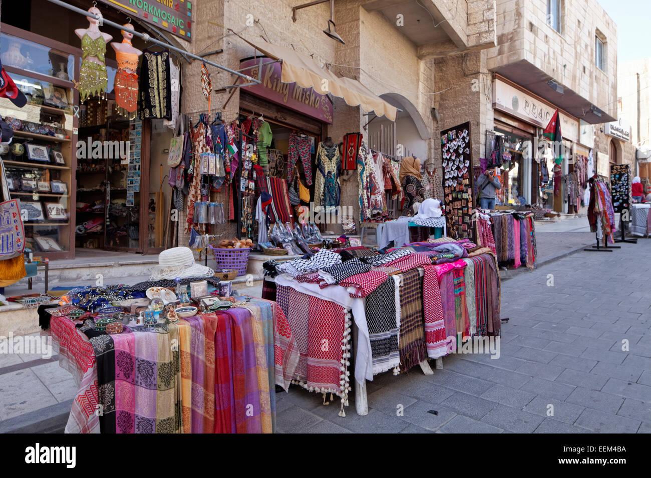 Souvenir shop, Madaba, Jordan - Stock Image