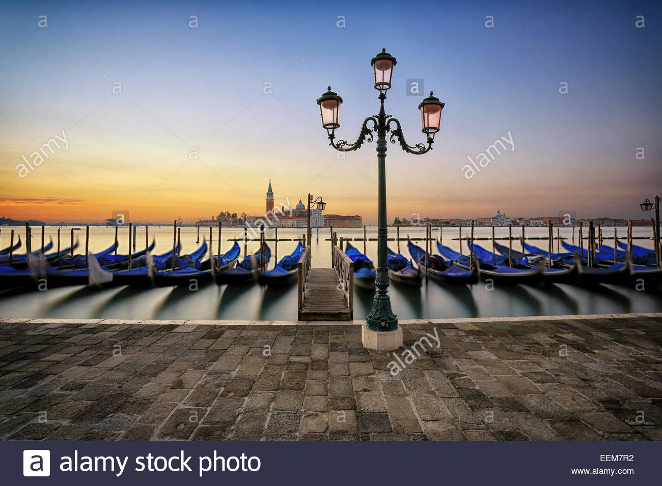 Italy, Venice, Sunrise in town - Stock Image