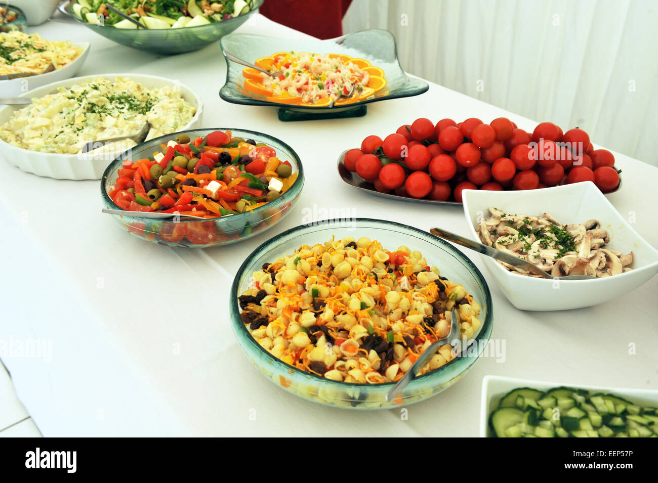 salad buffet at a wedding party stock photo 77933738 alamy rh alamy com salad buffet party summer salad buffet ideas