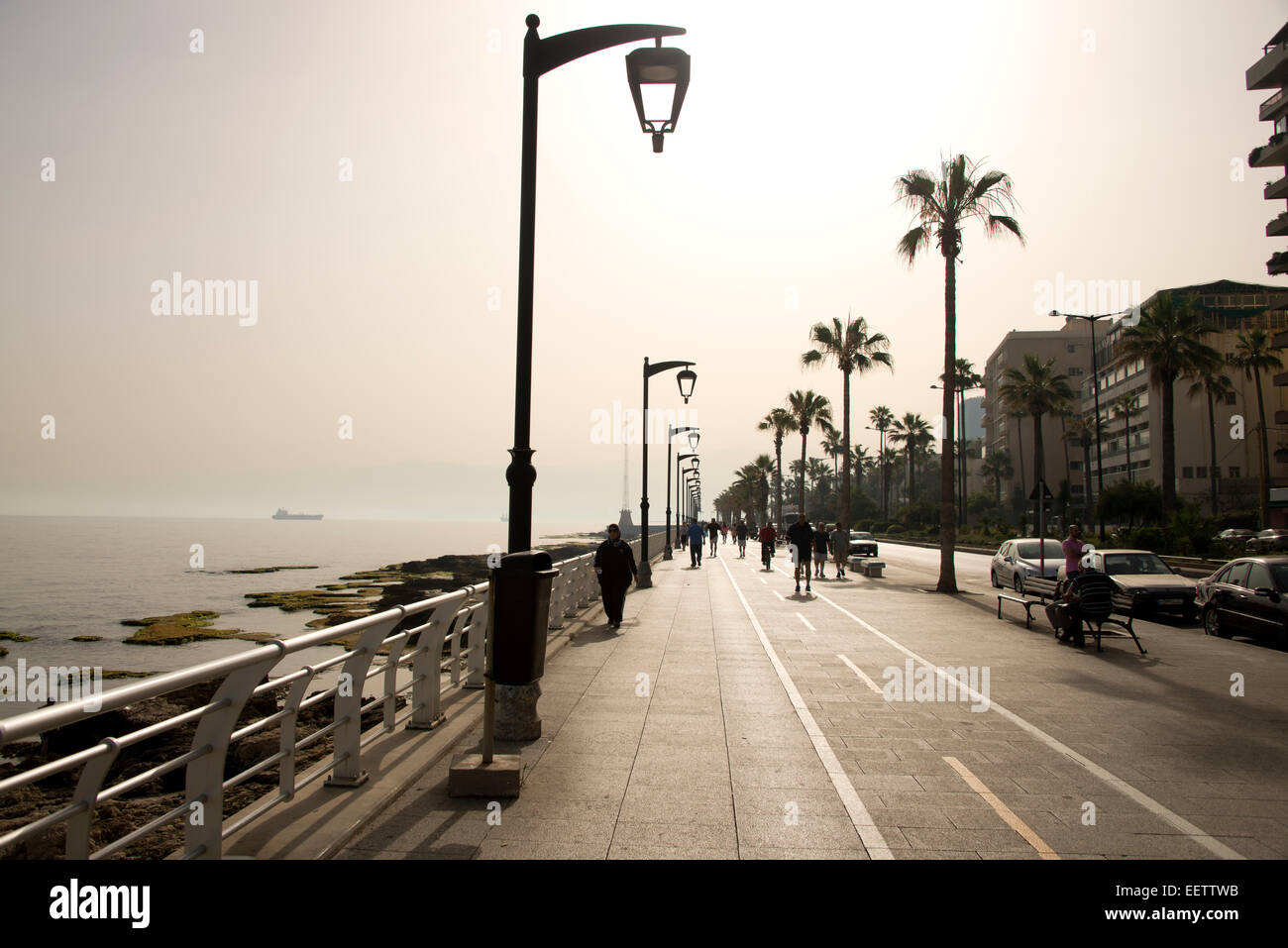 Seafront, Beirut - Stock Image