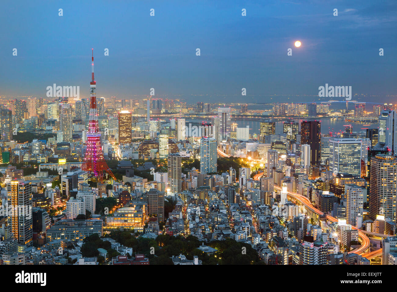 Tokyo by night - Stock Image