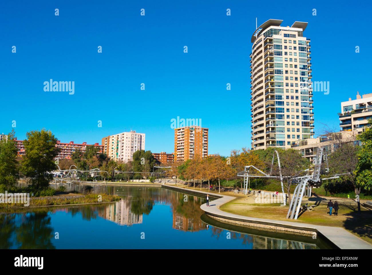 Parc de la Diagonal-Mar, Barcelona, Spain - Stock Image