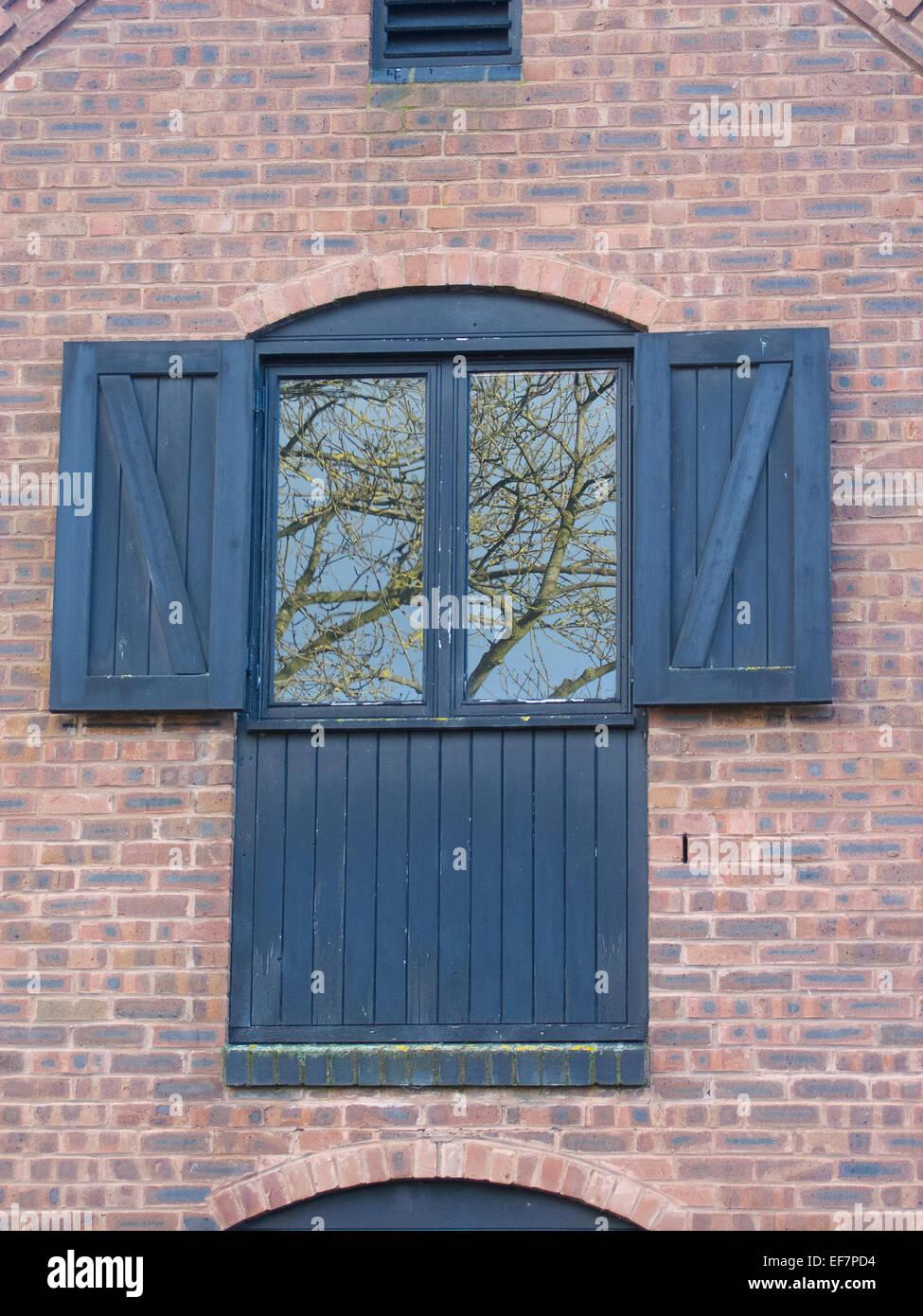 external window shutters modern wooden shutters on an external window uk stock photo 78232592 alamy