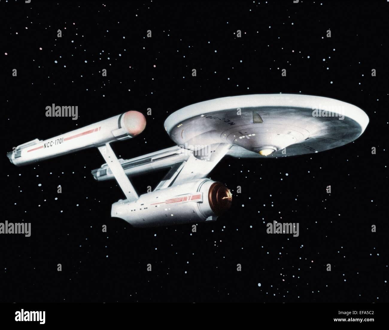 THE STARSHIP ENTERPRISE STAR TREK (1966) Stock Photo