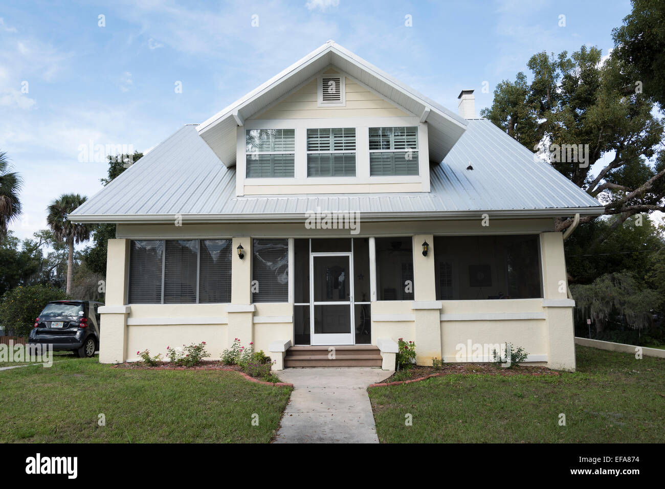Typical Florida House, Clermont, Lake County, Florida, USA - Stock Image