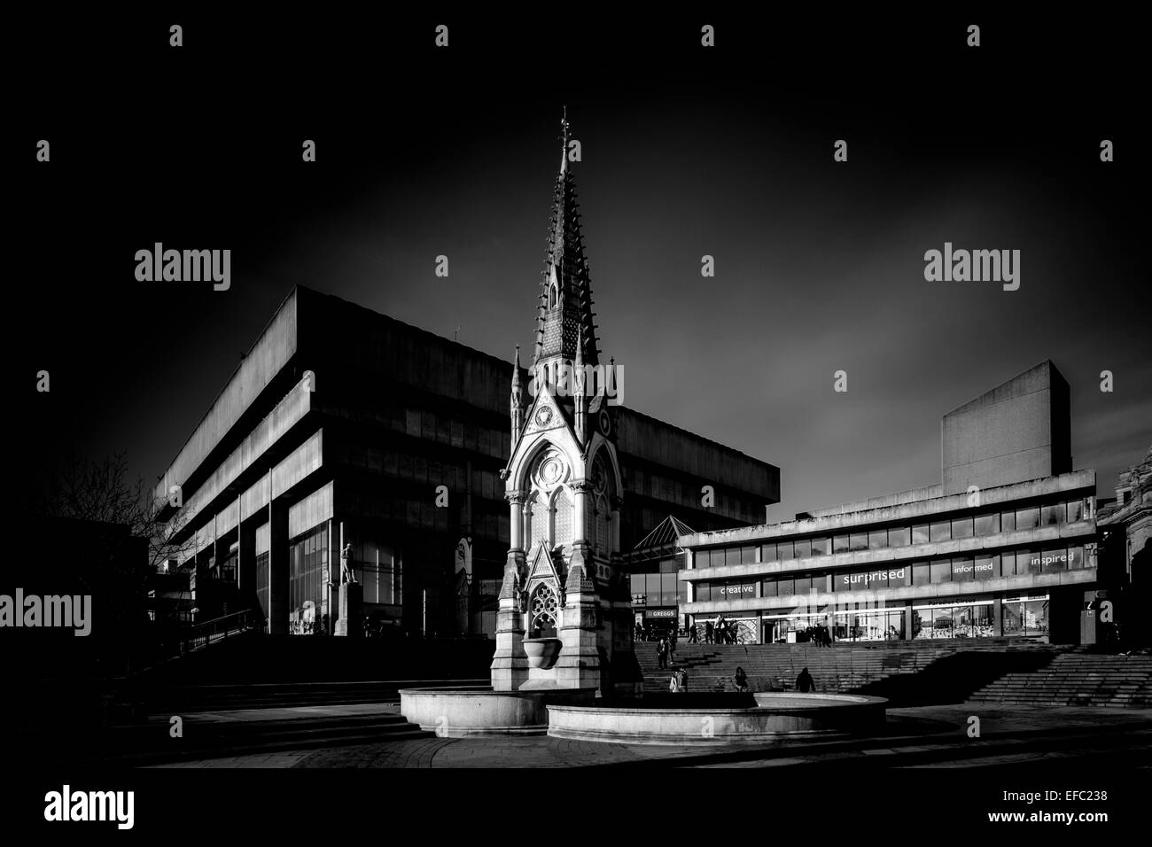 The Old Library (prior to demolition) in Chamberlain Square, Birmingham., Birmingham. - Stock Image