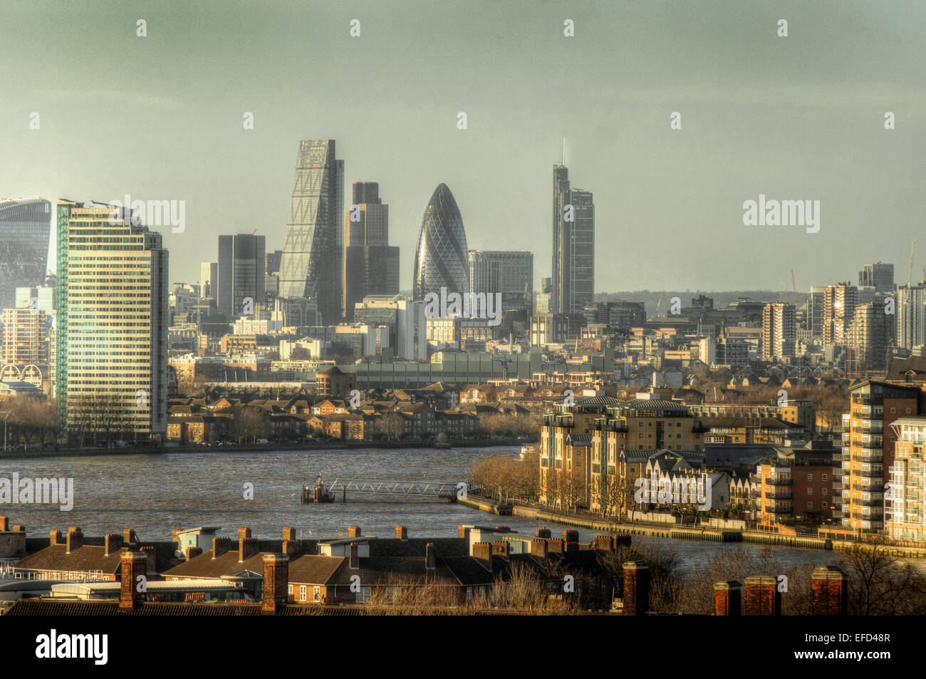 City of London Skyline  London tall buildings - Stock Image