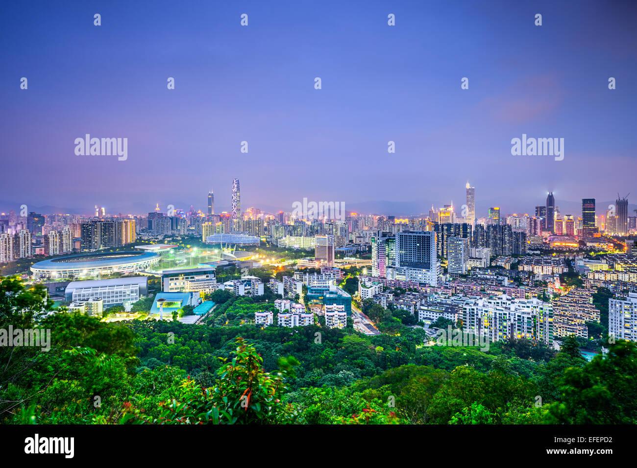 Shenzhen, China downtown cityscape. - Stock Image