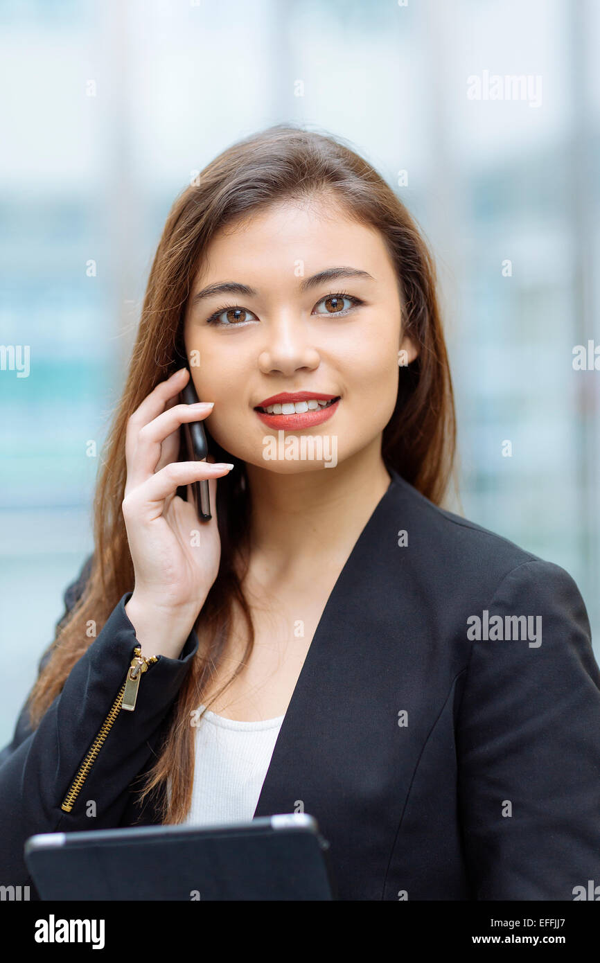 Portrait of a asian businesswoman - Stock Image
